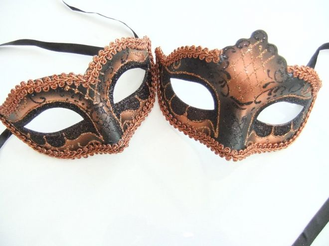 His & Hers Bronze braided Petite Masks